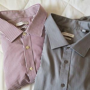 Joseph Abbound Dress Shirts Striped Solid